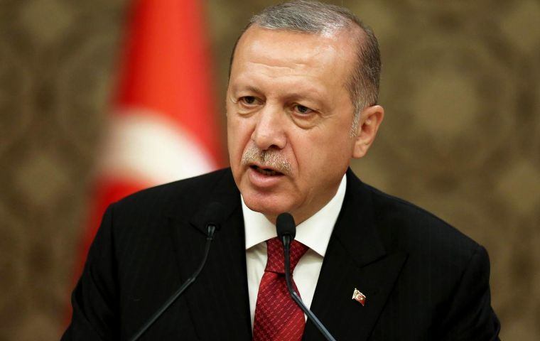 """We are solving the issue of rent in foreign currency, which concerns a lot of our vendors, once and for all,"" Erdogan told a meeting of a traders' confederation"