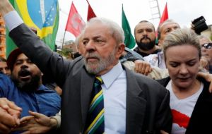 Ex president Lula da Silva was the runaway polls leader despite being jailed for 12 years in April for accepting a bribe