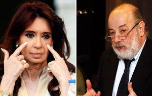 "Cristina Fernandez calls Bonadio ""an enemy judge"" who she says is working with the administration of president Mauricio Macri to persecute opponents"