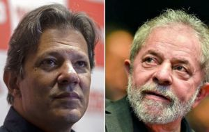 "As well as campaigning for himself, Haddad said he wouldn't abandon Lula's fight for freedom. ""As a citizen I will remain in the campaign to free the president"""