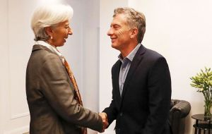 President Mauricio Macri asked the International Monetary Fund last month to speed up payments that are part of a historic bailout deal reached in June
