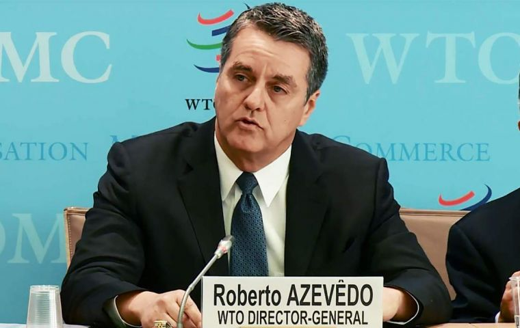 """I'm very concerned,"" WTO chief Roberto Azevedo said ""To be honest, I don't think it's over. They have lots of ammunition and it can expand to other areas..."""