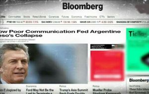 The Argentine president activities begin on Monday with interviews with influential economic publications Bloomberg and The Financial Times
