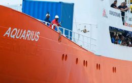After being stripped of its Gibraltar registration, the Aquarius has now lost its Panama flag too