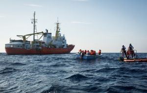 The only charity vessel left the in search and rescue zone in international waters off the coast of Libya is now officially no longer able to operate.
