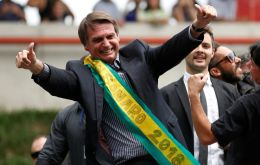 "Bolsanaro described the birth of his daughter as a moment of ""weakness"" after his four sons."