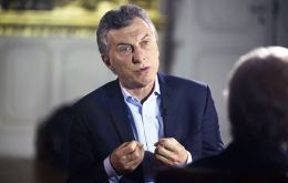 Macri was interviewed by the Bloomberg international television channel where he confirmed that he would be running for reelection in October 2019