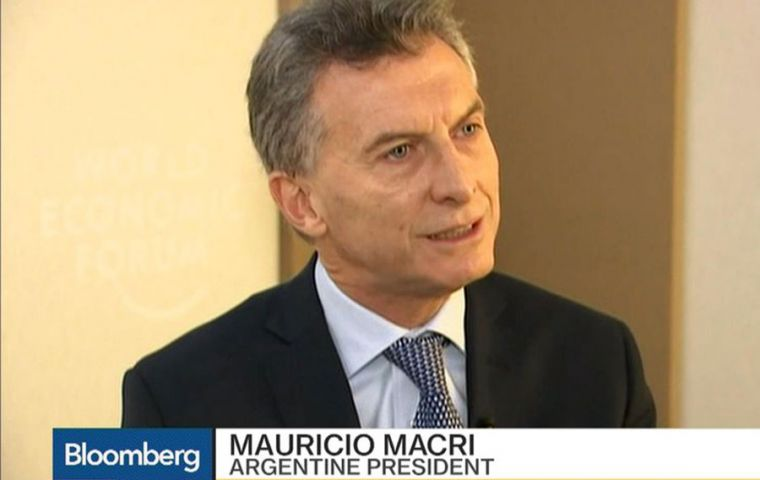 """We will have more support from them,"" Macri said of the IMF talks, adding that an agreement could be reached ""in a couple of days."""