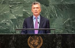 President Macri employed barely sixty seconds of his eleven minute address to the South Atlantic islands sovereignty claim