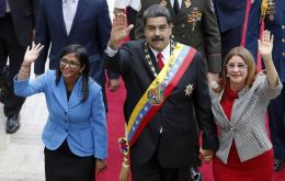 """I'm surrounded by sanctioned (officials),"" Maduro said. ""Thank you, Donald Trump, for surrounding me with dignity."""