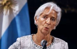 Argentina has developed a strengthened economic plan that is aimed at bolstering confidence and stabilizing the economy, said Christine Lagarde (Pic AP)