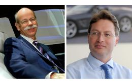 Dieter Zetsche (Left), 65, will be replaced by Ola Kaellenius (Right), a 49-year-old Swede, as chief executive in a succession plan announced on Wednesday