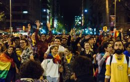 In the eleventh edition of the mobilization, thousands of people marched under different slogans in Montevideo. Photo: Sebastián Astorga