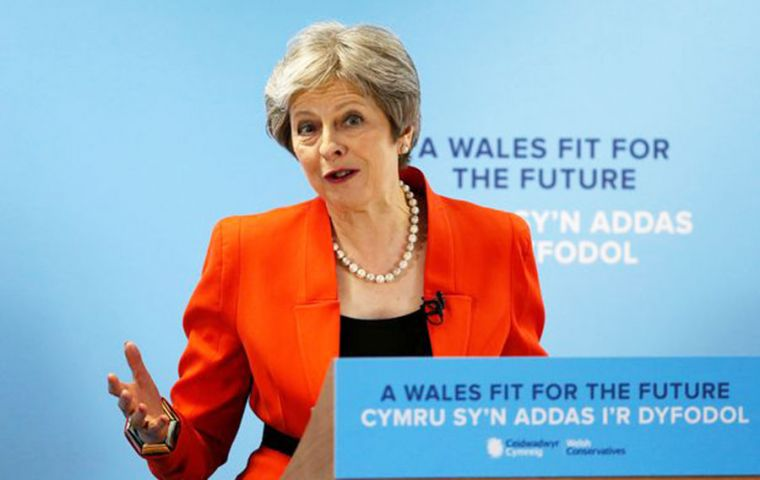 The four-day gathering got underway in Birmingham on Sunday, with Ms May's speech scheduled for the final day