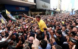 That followed an Ibope poll on Monday that also showed Bolsonaro pulling away from Haddad, with a 10-point lead ahead of Sunday's first round.