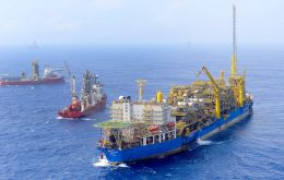 In South America, Brazil has 25 planned and announced FPSOs, followed by the Falkland Islands and Guyana with four and three FPSOs, respectively. (Pic Petrobras)