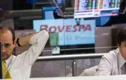 Brazil's benchmark Bovespa stock index jumped 4% to a nearly five-month high and the local currency, the real, gained 2.6% against the U.S. dollar