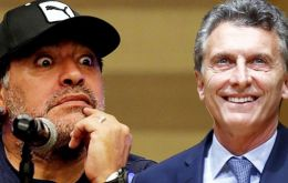 Maradona criticized the current Argentine government led by former Boca Juniors chairman Mauricio Macri