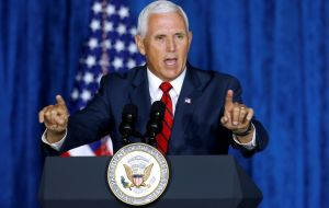 Pence accused China of military aggression, commercial theft and rising human rights violations: the villain bent on interfering in upcoming US elections