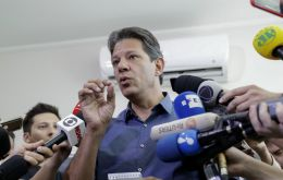 Haddad accused Bolsonaro of sending false WhatsApp messages, including one that the leftist was plotting to let authorities choose the gender of 5-year-olds