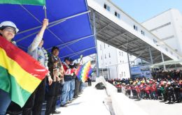 """It is a pride for Bolivians, this plant is one hundred percent Bolivian,"" said Morales."
