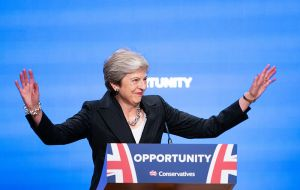 At the Conservative Party conference rows over her strategy loomed large, with critics urging her to favor a free trade deal like the EU has with Canada.