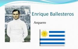 Ballesteros wore the Celestes' jersey to  their 1930 World Cup title.