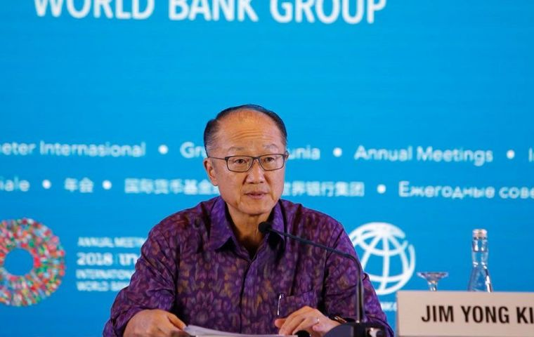 World Bank Group President Jim Yong Kim said he hoped the new index would encourage governments to take steps aimed at moving up the rankings