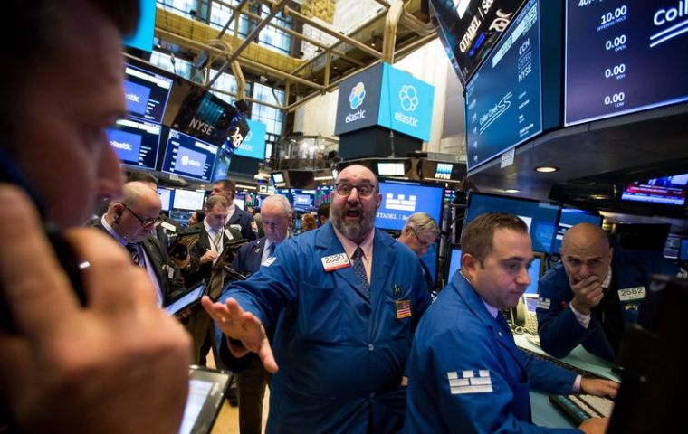 The Dow fell 831.8 points, or 3.15% to 25,598.7. The S&P 500 dropped 94.6 or 3.29% to 2,785.6 - the biggest one-day fall since early February.
