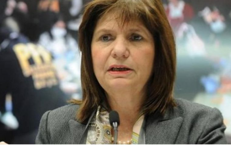 """The advances in the fight against drug trafficking are evident, the change that has taken place is enormous,"" Bullrich said."