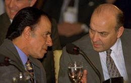 Menem (left) and Cavallo at the peak of their political careers