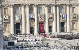 The new saints were officially recognised by Pope Francis Sunday during a ceremony attended by some 70,000 people in St. Peter's Square.