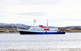"Expedition ship ""Ushuaia"" opens the season on Saturday  (Pic J.Pompert)t)"