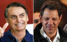 Bolsonaro has a sizeable lead in opinion polls over his leftist rival, Workers Party (PT) candidate Fernando Haddad, ahead of the Oct. 28 run-off vote