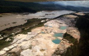 In Venezuela, the pollution generated by illegal mining in Canaima National Park has probably destroyed thousands of hectares of protected areas. (Valentina Quintero)
