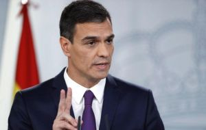 "Pedro Sanchez echoed that sentiment and said the Gibraltar protocol ""is resolved"", and insisted ""that protocol is already agreed, it's closed"""