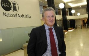 "NAO head, Sir Amyas Morse said: ""The government has openly accepted the border will be sub-optimal if there is no deal with the EU on 29 March 2019"""