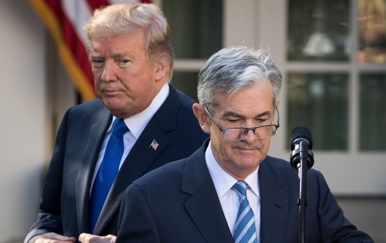 Mr Trump has repeatedly criticized the US central bank for raising interest rates. Recent US presidents have avoided commenting on Fed policy