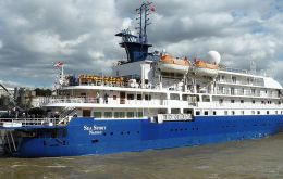 """Sea Spirit"" on an Antarctica cruise opened the season in Puerto Madryn"