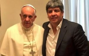 "Teamsters leader Pablo Moyano told reporters: ""This  could not have happened without his permission,"" in reference to whether the pope had offered his support"