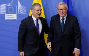 Juncker made those statements after meeting in Brussels with Colombian President Ivan Duque, whom he praised for his country's role in the humanitarian crisis.