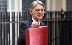 This would give Chancellor Hammond space to borrow an average of £16 billion a year more between 2019/20 and 2022/23 than was expected in the spring