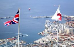 Flags of the Union Jack and Gibraltar