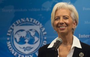"""Despite the challenging environment the government has proactively strengthened its policy plans. Important challenges remain"", said Christine Lagarde"
