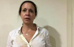 María Corina Machado was attacked on Wednesday during a political act.