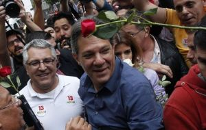 "Fernando Haddad had asked for the vote to remove ""the ghosts of dictatorship and hatred"" in Brazil, personified by the ultraconservative candidate."