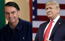 "The US president phoned Bolsonaro on Sunday night to congratulate him and hoping to work ""side-by-side"", White House Press Secretary Sarah Sanders said"