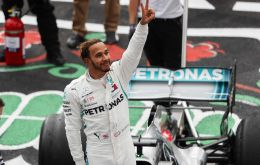 """When Fangio got the fifth title it must have been something incredible, now equaling it is special,"" explained Hamilton"