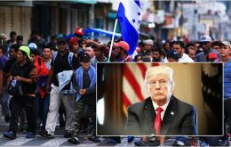 President Donald Trump, eager to focus voters on immigration in the lead-up to the midterm elections November 6, stepped up his warnings about the caravans