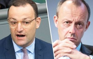 Following Merkel's announcement, Health Minister Jens Spahn and former rival Friedrich Merz announced their candidacies as CDU leaders